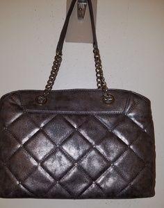 Nine west silver quilted handbag